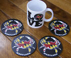Maryland Crab Flag Coaster set of 4