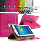 "360 Rotating Leather Case Folio Cover For Gigaset Android Tablets 8"" inch 10.1"""