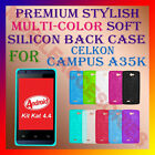 ACM-PREMIUM RICH MULTI-COLOR SOFT SILICON BACK CASE for CELKON CAMPUS A35K COVER