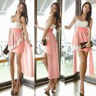 Hot Removable Straps Empire Waist Flouncy Women's Cocktail Party High Low Dress