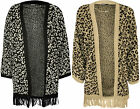 New Womens Animal Tassel Batwing Sleeve Top Ladies Open Knitted Cardigan 8 - 14
