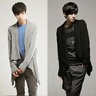 Fashion Casual Mens Irregular Open Front Slim Fit Cardigan Sweater Coat Knitwear