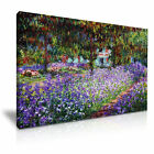 Claude Monet The Garden in Giverny Canvas Modern Home Office Wall Art Box
