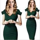 femmes pin-up col-V fashion mode tunique Cocktail Bodycon dress sexy robe