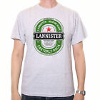Inspired by Game Of Thrones T shirt - Lannister Beer Label White / Grey Cult TV!