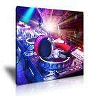 MUSIC DJ Headphone Canvas Framed Printed Wall Art 9 ~ More size