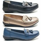 NEW WOMENS LADIES SCHOOL WORK CASUAL TASSEL FLAT GIRLS COMFY LOAFERS SHOES SIZE