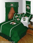 Boston Celtics Comforter Sham & Sheet Set Twin to King Side