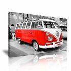 VW VAN Transport Canvas Framed Printed Wall Art 4 ~ More Size