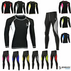 Deckra Mens Compression Armour Base Layer Top Skin Fit Shirt legging Set