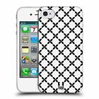HEAD CASE BNW PATTERNS SILICONE GEL CASE FOR APPLE iPHONE 4