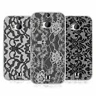 HEAD CASE BLACK LACE SILICONE GEL CASE FOR HTC ONE M8