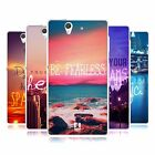 HEAD CASE WORDS TO LIVE BY SERIES 4 SILICONE GEL CASE FOR SONY XPERIA Z C6603
