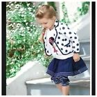 New Baby Girls Kids Top Shirt +Leggings +Tutu Skirt+Outfits 4pcs Set size9M-4yrs