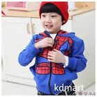 New kids boys winter Spiderman zip through hooded jacket clothes size 1-5yrs