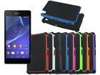 Dual Layer Hybrid Armor Rugged Hard Case for Sony Xperia Z2