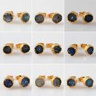 Excellent! Agate Druzy Geode Studs AG10101