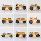 Marvelous! Agate Druzy Geode Studs AG103