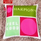 "Print Letter Sofa Cushion Cover Pillow Case 18x18""  Bright Colour Decor New"