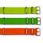NEON NATO STYLE G10 MILITARY WATCH STRAP yellow green orange 18mm 20mm 22mm NEW