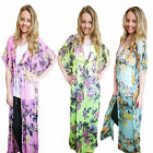 Womens Floral Maxi Kaftan Boutique Ladies Full Length Cover Up Chiffon Dress Top