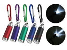 Focus Adjust Mini LED Light Torch Flashlight with Carabiner Key Chain Ring