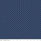 MINI QUATREFOIL ****  NAVY  - RILEY BLAKE 100% COTTON FABRIC