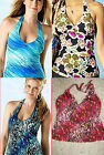 ST JOHNS BAY Size 8 10 8T or 14 Choice Halter Swim Tankini Top Swimwear NWT