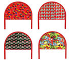 FC23 NEW TWIN SIZE RED METAL CHILDRENS BOYS GIRLS YOUTH THEMED HEADBOARD BED