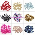 100pcs Clear Black Rose Blue loose glass crystal bicone spacer beads 4x3mm