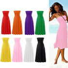 Sexy Ladies Women Strapless Bikini Cover Up Bandeau Dress Swimwear Beach Skirt