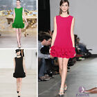 The new Europe and America Women Multilayer Flouncing Slim Dress Skirt