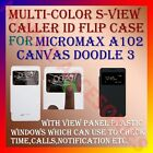 S-VIEW SMART PREMIUM LEATHER FLIP CASE for MICROMAX A102 CANVAS DOODLE 3 COVER