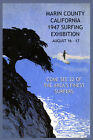 Surfing Marin California 1947 Surf Expo Ocean Vintage Poster Repro FREE S/H