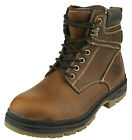 NFL Men's San Francisco 49ers Steel Toe Lace Up Leather Work Boots - Brown