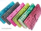 1PC in 6 Color Weave Lady Fashion PU High Quality Wallet Card Holder Coin Bag
