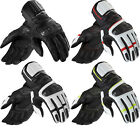 Rev It RSR 2 Motorcycle Leather Summer Gloves Racing Armoured Vented Motorbike