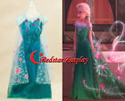 Frozen Fever Snow Princess Elsa Child Cosplay Costume Kids Girl Party Dress