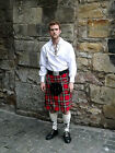 Casual Gents Mens Tartan Full 8 Yard Polyviscose Kilts, Multiple Colours & Sizes