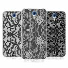 HEAD CASE BLACK LACE SILICONE GEL CASE FOR HTC DESIRE 620