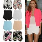 WOMENS LADIES SKORTS SHORTS HOTPANTS WRAP OVER SUMMER SKIRT SIZE
