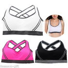 New Women's Stretch Padded Racerback Sport Bra Back Cross