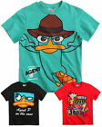 Boys Phineas And Ferb T Shirt Printed Green Red Black Kids Age 4 6 8 10 12 Years