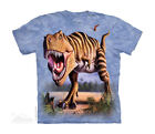 THE MOUNTAIN Striped T-Rex Kids/Boys/Child/Girls T-shirt/Top dinosaur/Jurassic