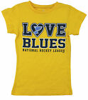 NHL Hockey Toddler Girls St. Louis Blues Love Shirt - Yellow