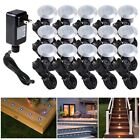 15pcs LED Bulbs Deck Light Garden Stair Yard Mall Outdoor Landscape Lamp Kit Opt