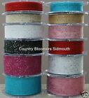 Berisfords ~ Wired Edge Random Glitter Sheer Organza Ribbon ~ 15mm 25mm 40mm ~