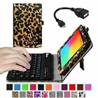 Folio Case Cover Bluetooth Keyboard + OTG Cable for LG G Pad 7.0/ LG G Pad F7.0