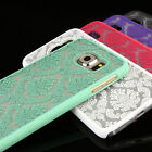 For Samsung Galaxy S6 Damask Vintage Pattern Rubberized Matte Hard Case Cover