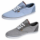 Mens Plimsolls Rock & Religion Boating Trainers Canvas Lace Up Pumps Flat Shoes